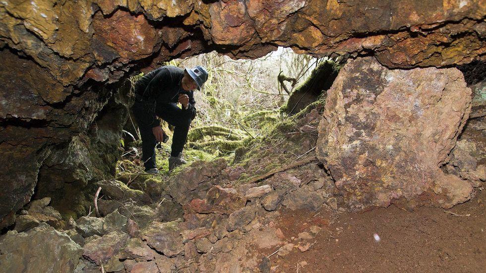 Antigua mina de hierro de Os Buratos, en la localidad de A Veneira de Roques, en A Pobra do Brollón