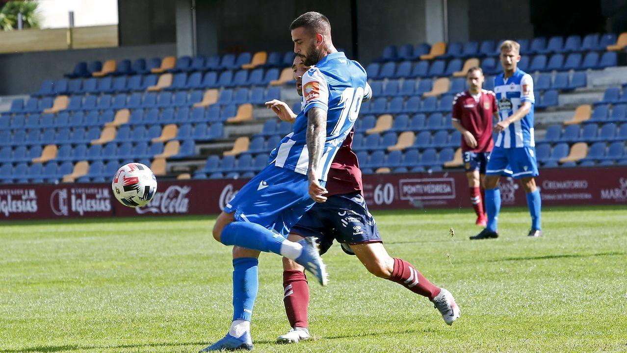 Granero despeja en el amistoso contra el Pontevedra
