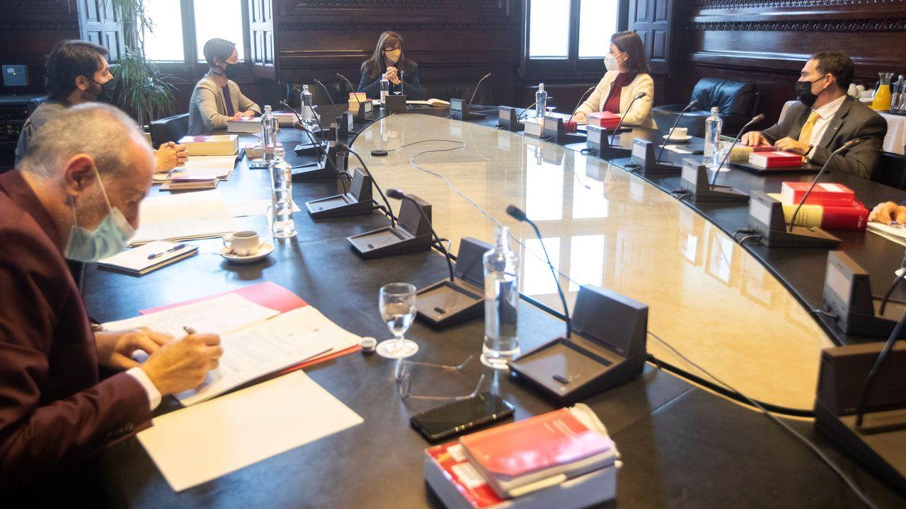 La Mesa del Parlamento catalán se reunió ayer por primera vez