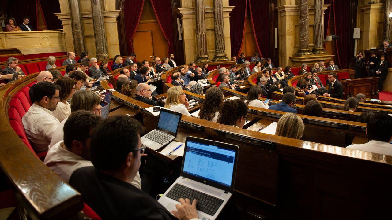 Vista general del Parlamento catalán durante una sesión plenaria