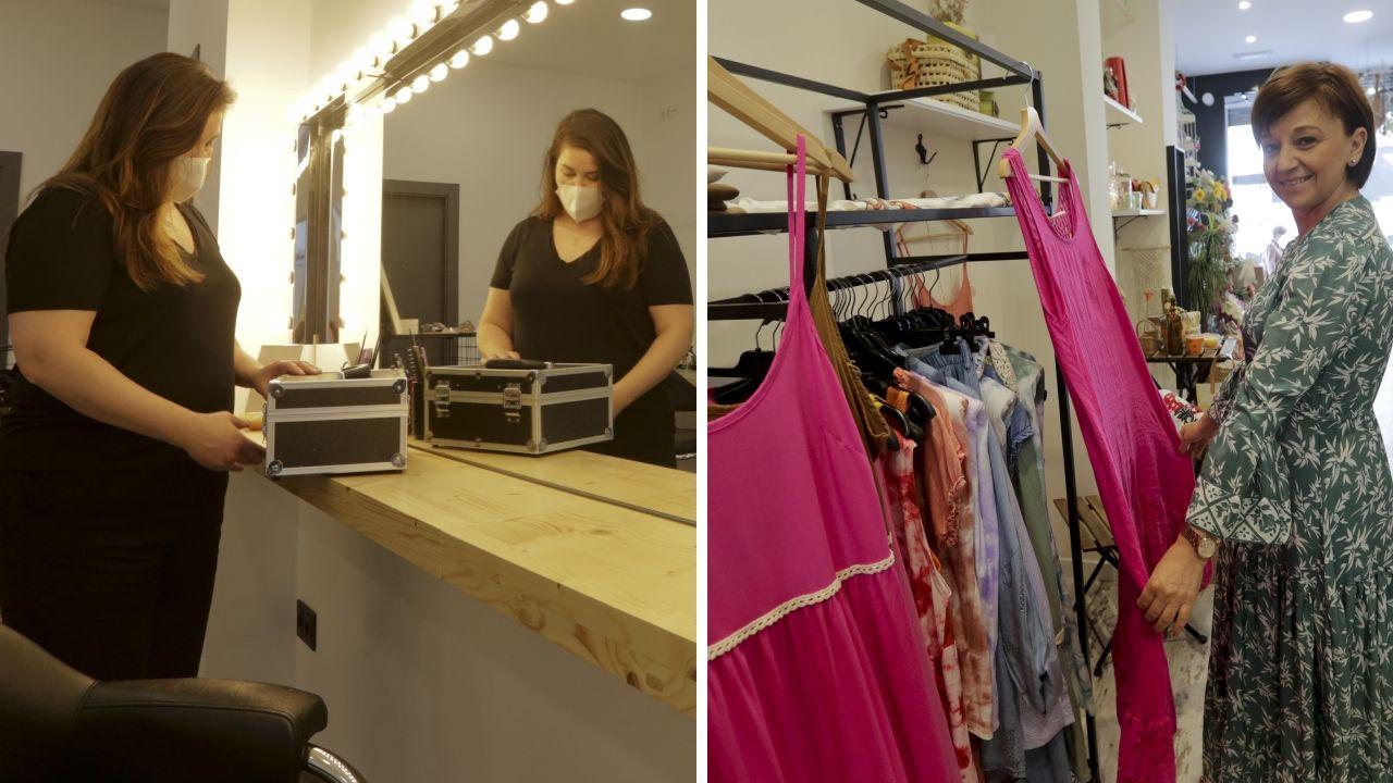 Fani Mosqueira, abrió Elas Estudio, y Rosa Barrientos una tienda de moda y decoración