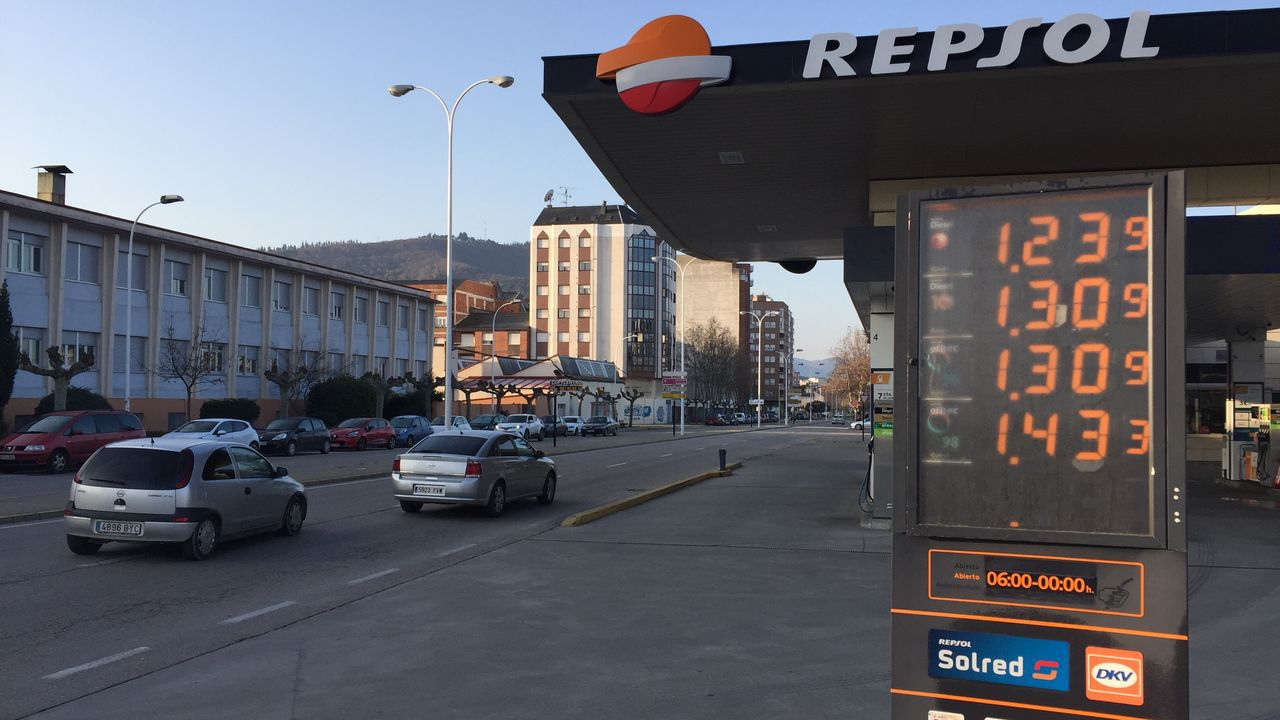 Estación de servicio de Ponferrada con los precios del viernes día 7, más económicos que los de Lugo