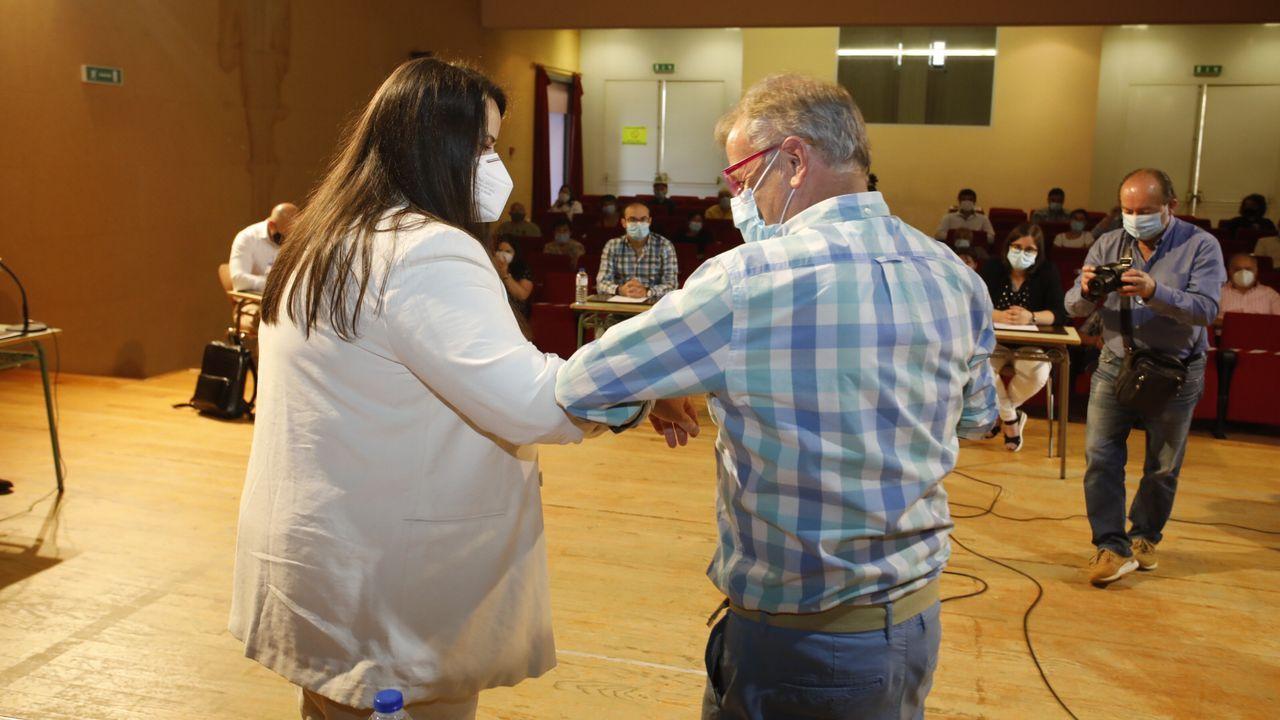 Rocío Seijas, en el momento de ser elegida alcaldesa de Monterroso