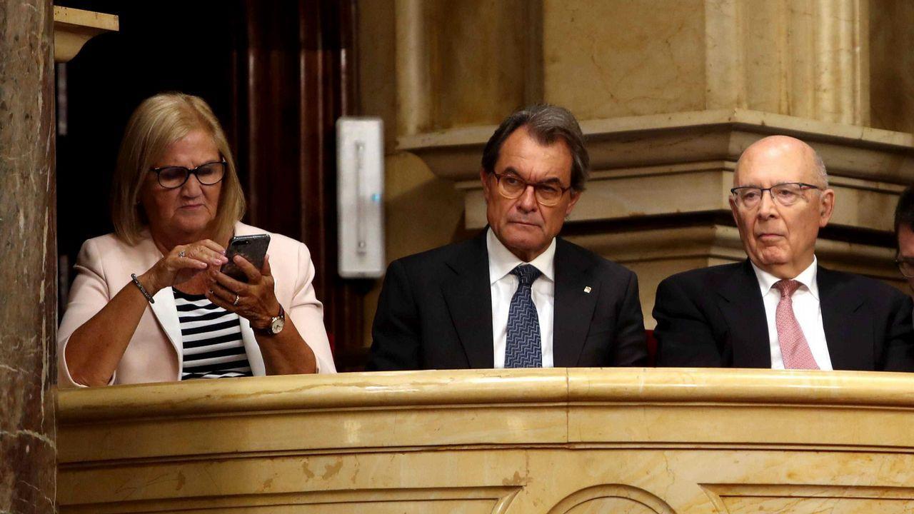 Artur Mas, hoy en el Parlament