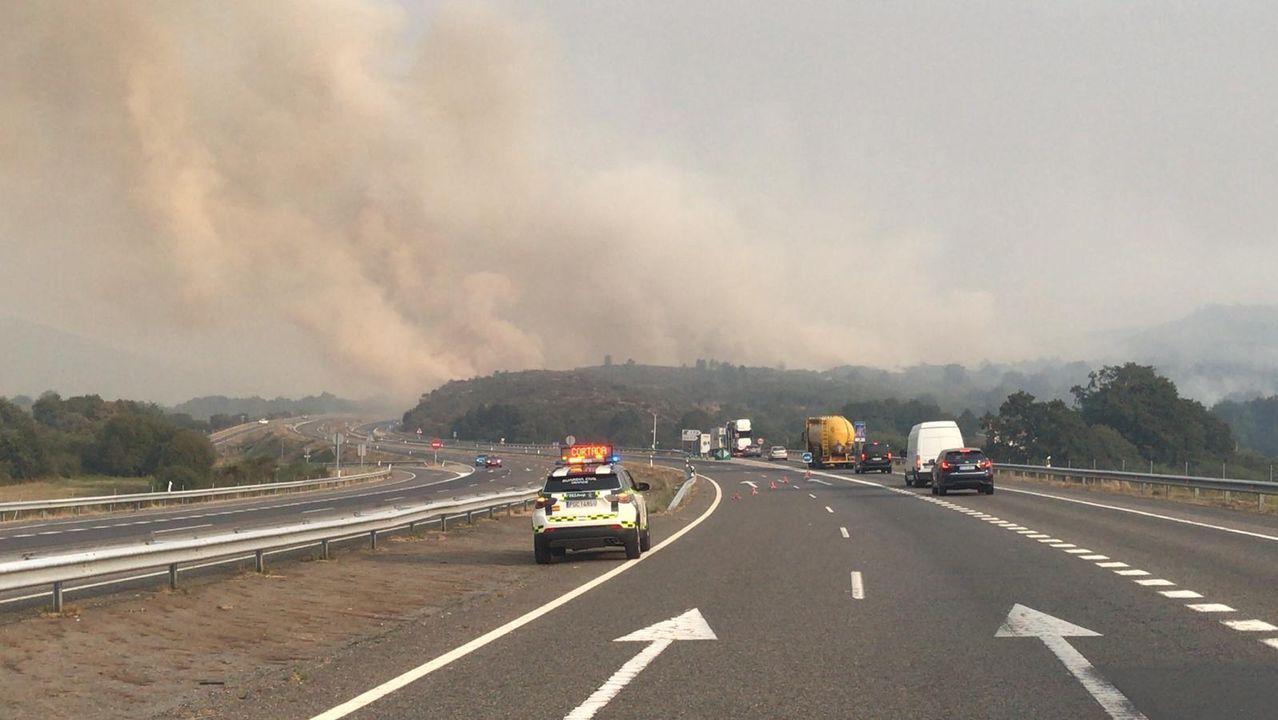 Ola de incendios en Ourense