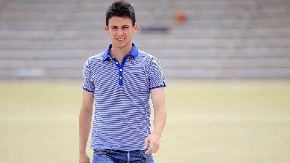 Rafa Mella, en una foto de archivo del 2014, cuando era jugador del Coruxo.
