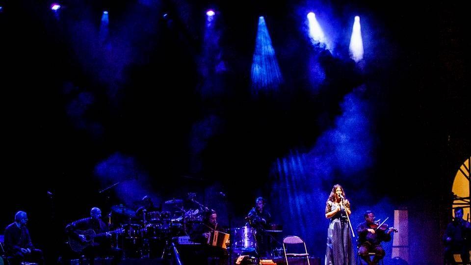 Luar na Lubre durante un concierto en María Pita