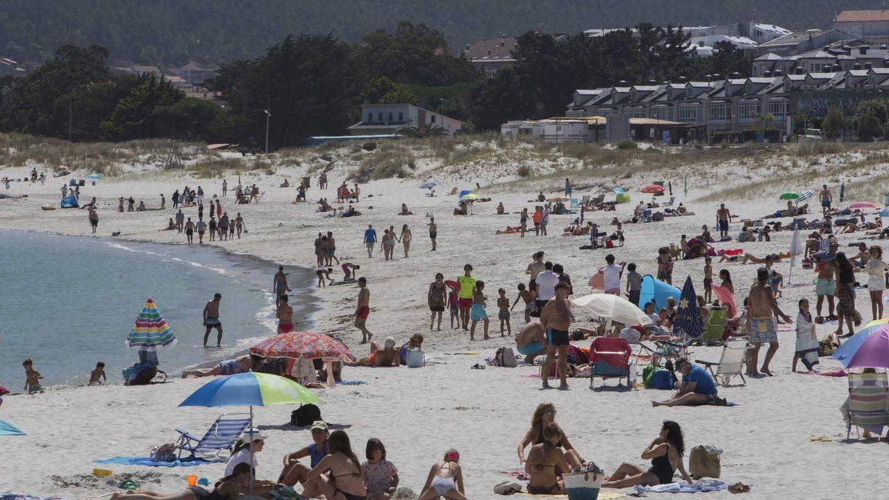 Las imágenes que dejó la BTT Monte Castelo ¡Búscate!.Playa de Laxe, en verano