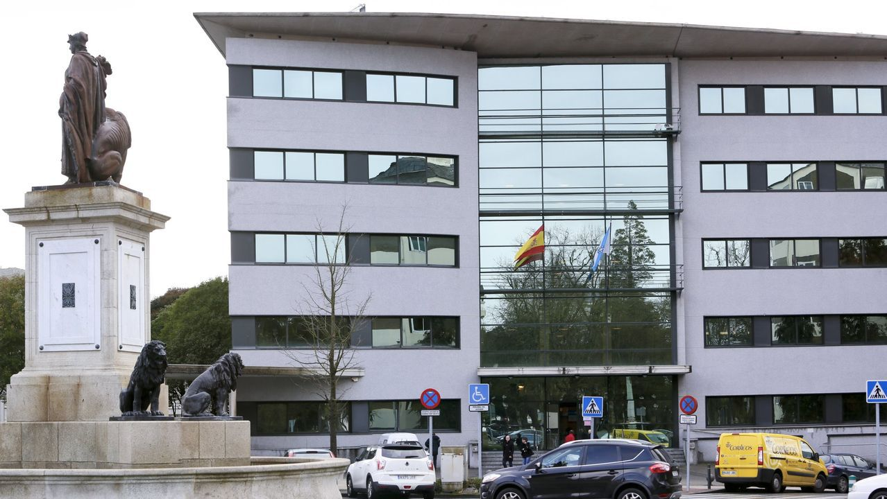 El edificio de los juzgados de Lugo, en la Plaza de Avilés
