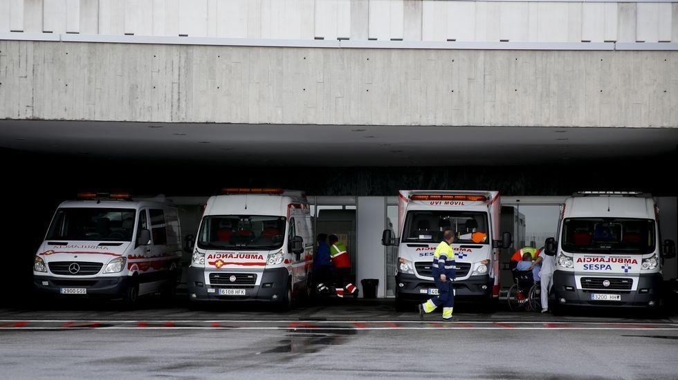 monumento víctimas nazismo.Ambulancias, en el HUCA