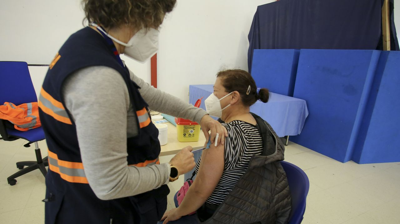 Vacunación masiva con Astra Zéneca en FIMO