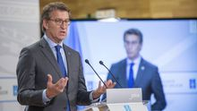 El presidente de la Xunta, Alberto Núñez Feijoo, comparece este viernes ante los medios