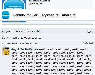 <span lang= es-es >Sobres en Facebook</span>. La indignación llegó a la Red. Los internautas inundaron la página del PP en Facebook de miles de sobres (en referencia a los pagos en negro) y símbolos del euro.