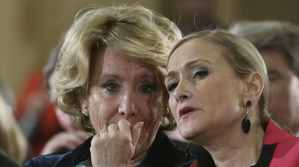 Así fue el hurto de dos botes de crema por parte de Cristina Cifuentes.Esperanza Aguirre dimitió de la presidencia del PP de Madrid el 14 de febrero del 2016 por «responsabilidad política», aunque, dijo, no tenía «ninguna responsabilidad material», ni podía «estar encausada en nada»