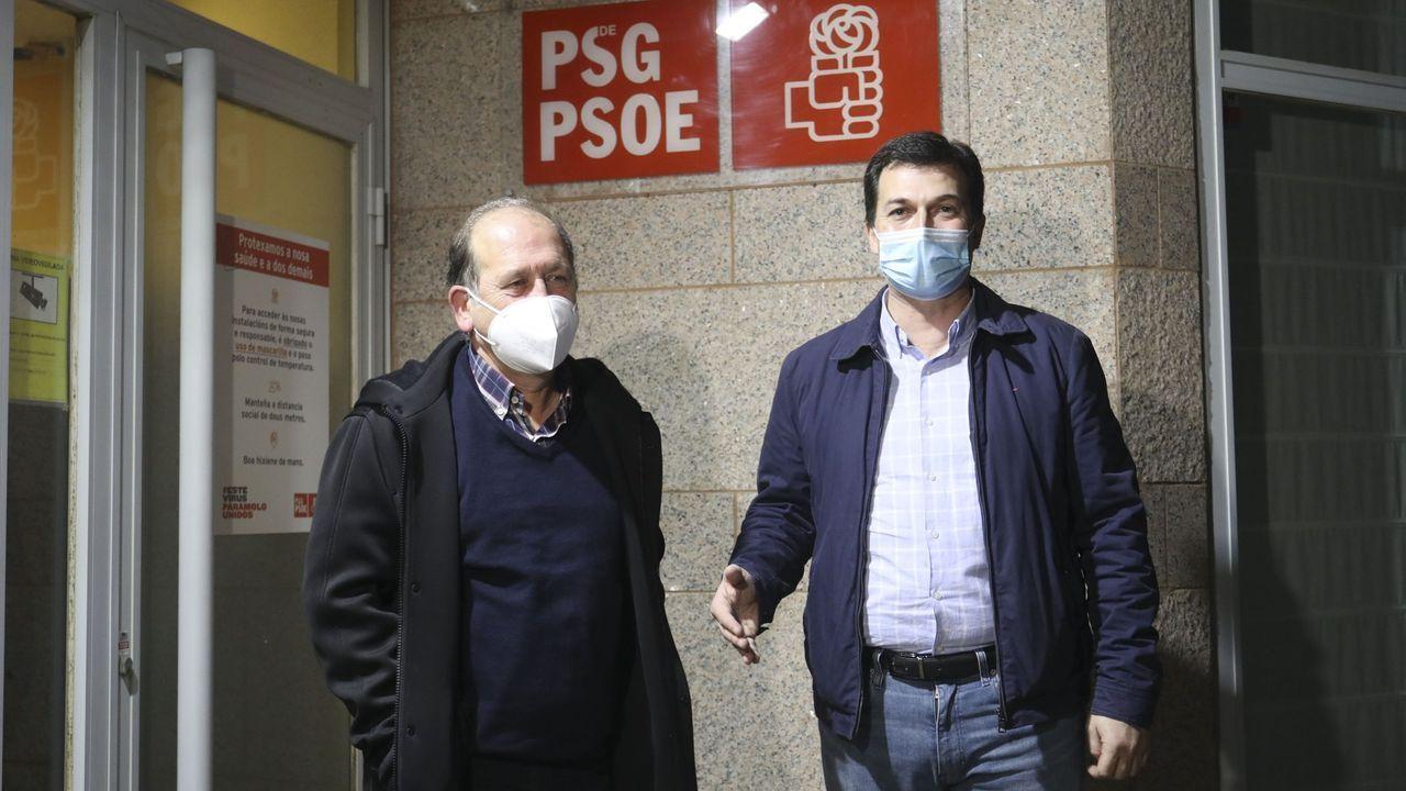 Leiceaga y Caballero fotografiados en el mes de noviembre