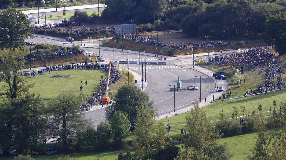 Vista general del tramo urbano en La Florida (Oviedo), del Rally Princesa de Asturias.Vista general del tramo urbano en La Florida (Oviedo), del Rally Princesa de Asturias