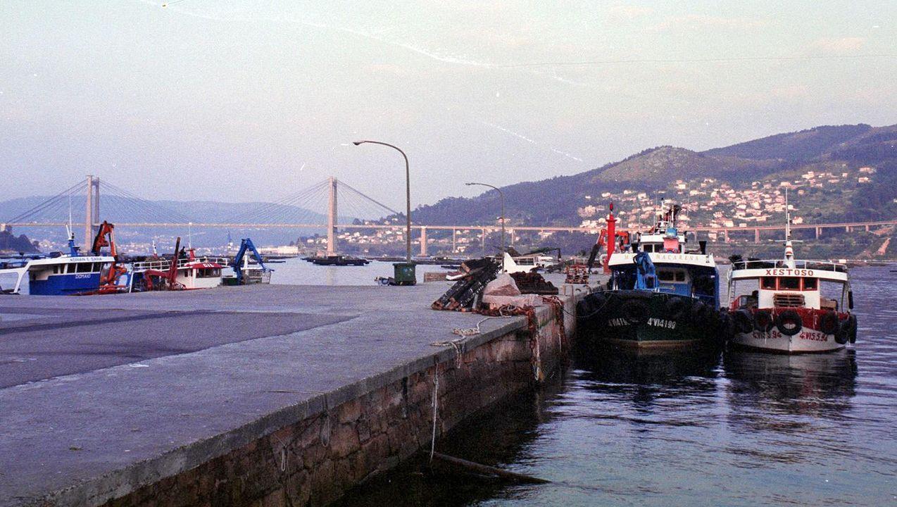 Imagen de archivo del puerto de Domaio, donde tuvo lugar el accidente