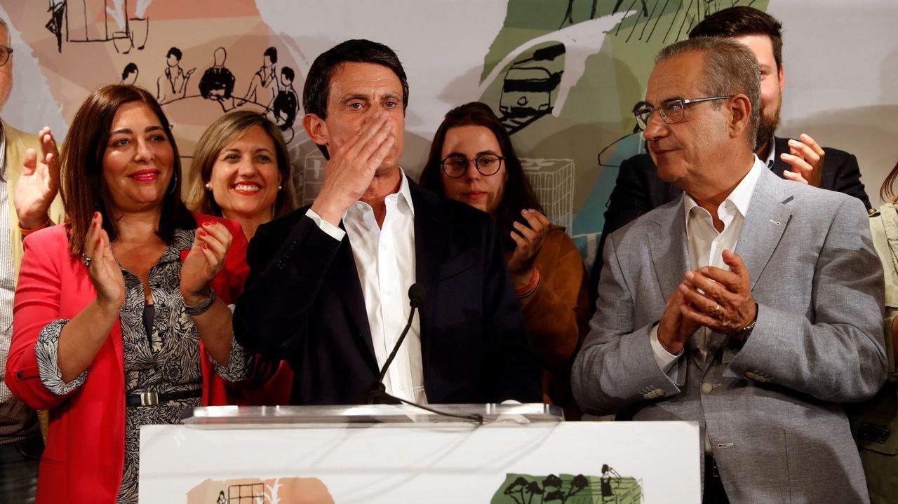 Manuel Valls se presentó en coalición con Ciudadanos y reconoció que los seis concejales logrados son «un fracaso personal»