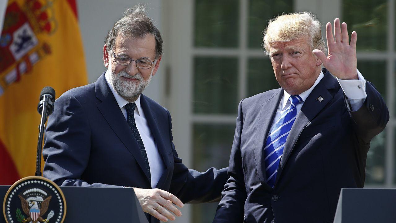 Trump defiende la unidad de España ante Rajoy en la Casa Blanca