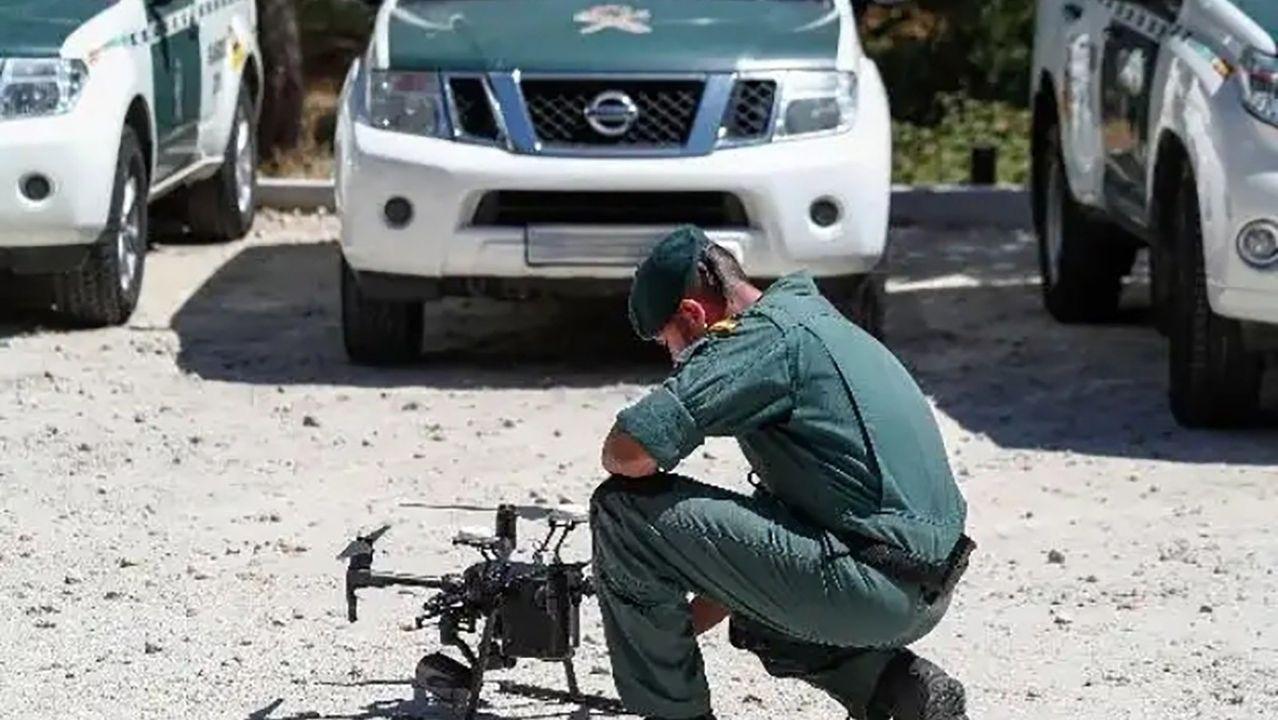 La Guardia Civil también recurrió a los drones para localizar al delincuente
