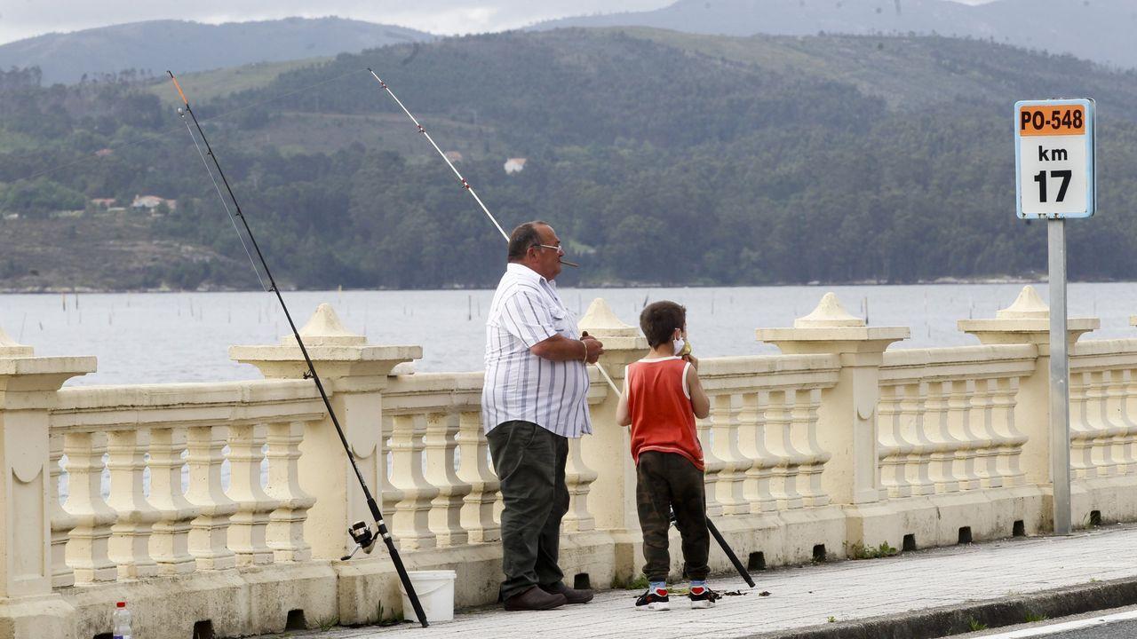 Los pescadores aficionados se manifiestan en Burela