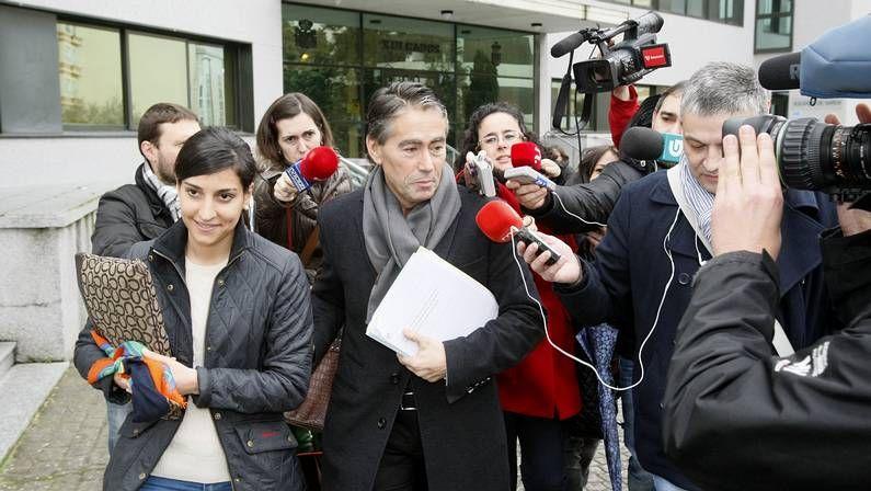 Rebeca Domínguez abandona el juzgado después de declarar