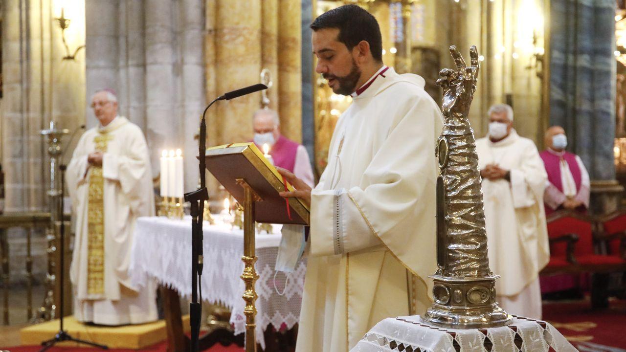 La reliquia de San Froilán se ubicó en el altar mayor de la catedral