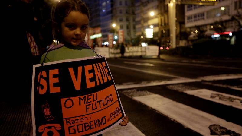 Aulas vacías y manifestaciones contra la Lomce
