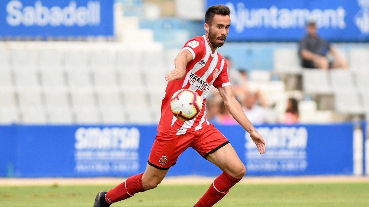 Sebas Coris en un partido con el Girona