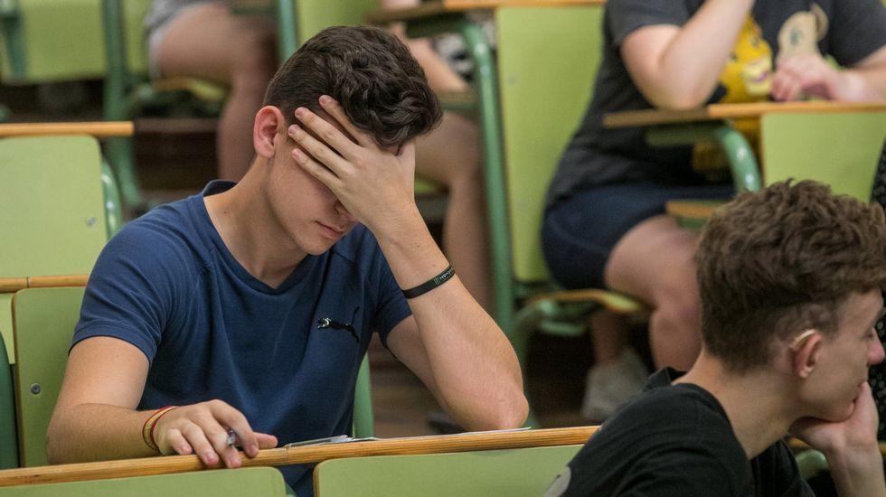 Gobierno y autonomías acuerdan que los alumnos pasen de curso, salvo casos excepcionales.Un alumno de Zaragoza, durante la selectividad