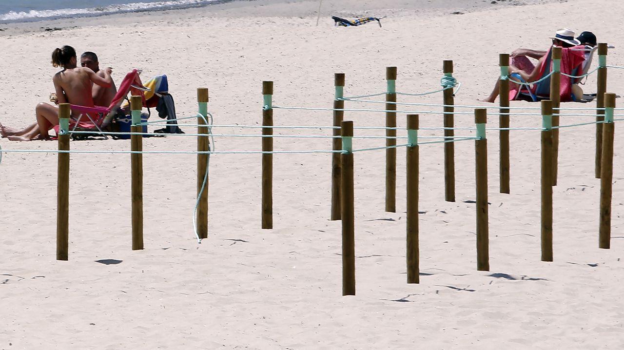 Playa de Silgar, en Sanxenxo