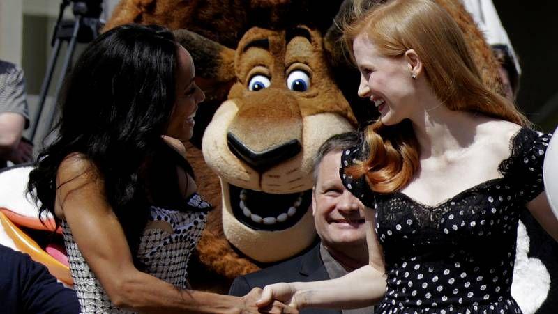 Jada Pinkett-Smith y Jessica Chastain, en la presentación del filme