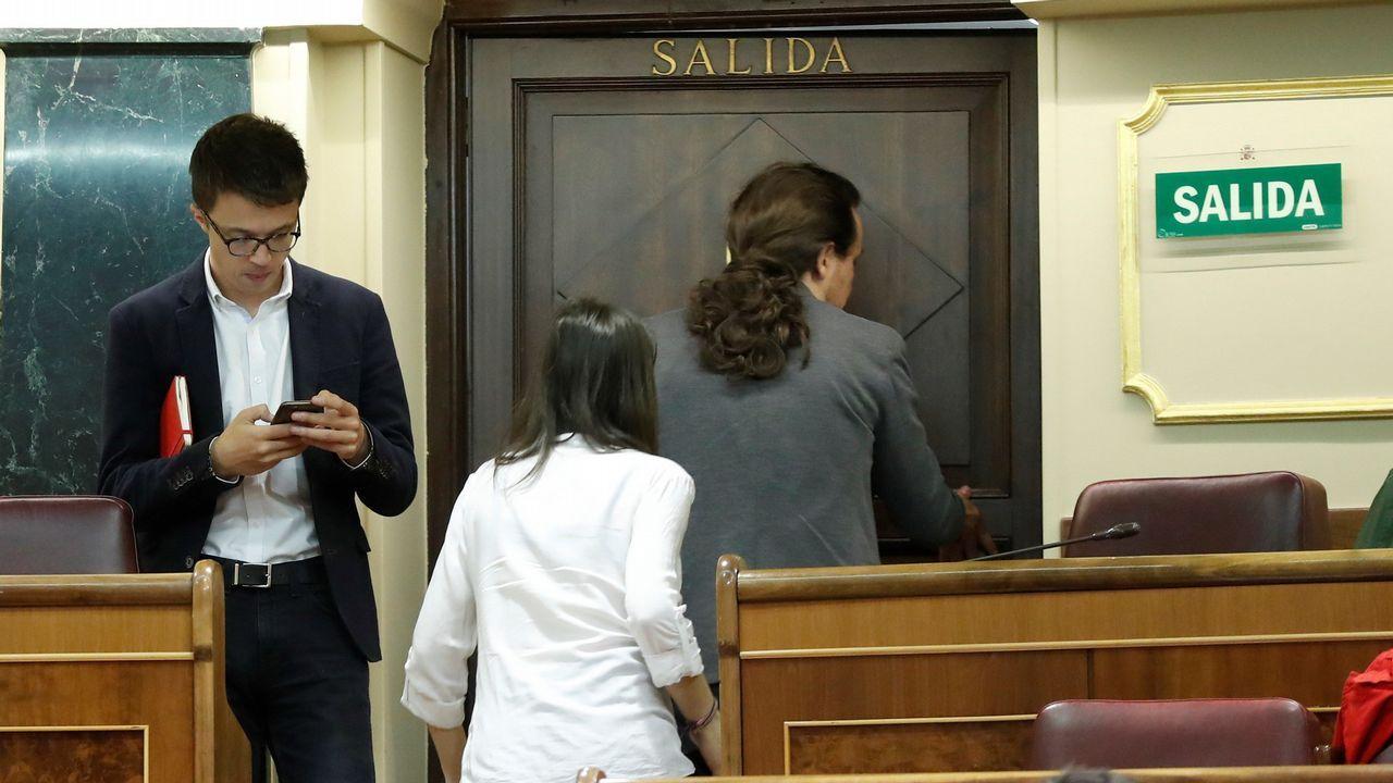 Errejón, durante su vista a la Facultad de Ciencias Políticas de Santiago, donde impartió una conferencia