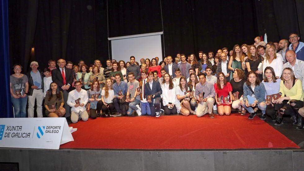 Gala anual de la federacion galega de atletismo en Pobra