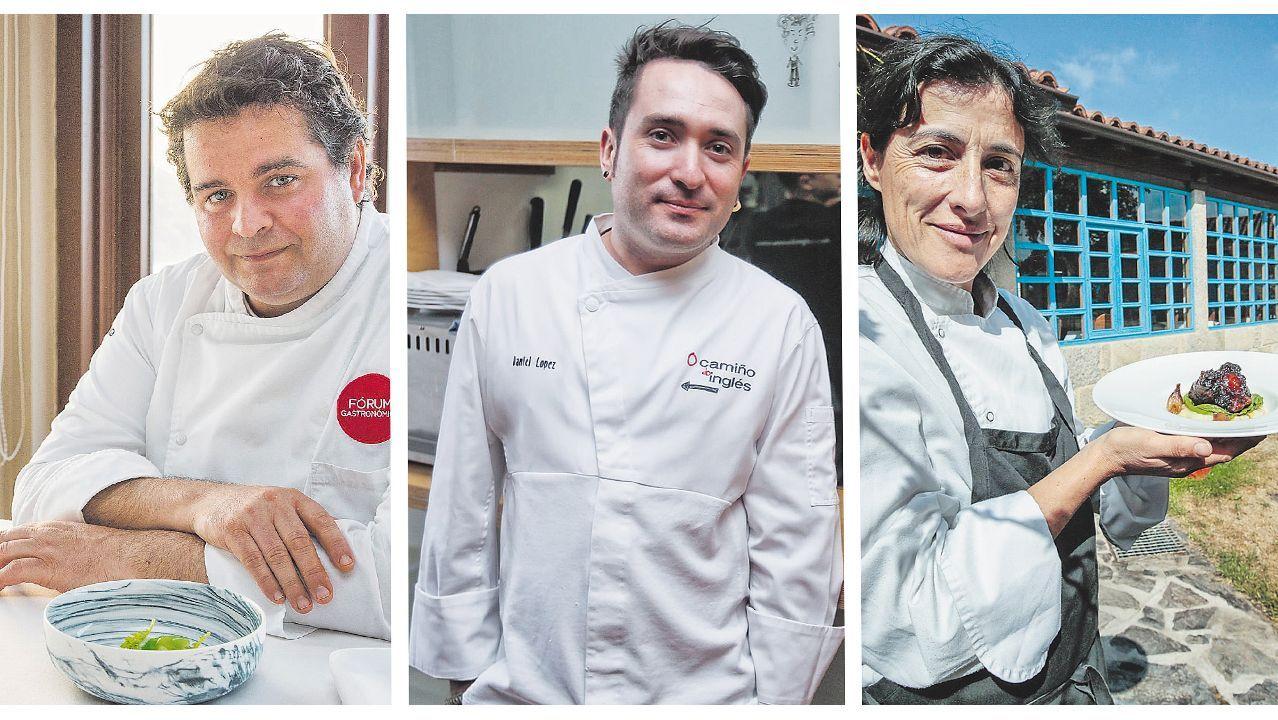 Él chef José Andrés, este domingo en A Coruña, en el marco del proyecto Chefs for Spain que impulsa la ONG World Central Kitchen