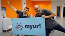 Los creadores de Myur!, Manuel Cascudo y Miguel Barreiros, piensan desarrollar nuevas aplicaciones.