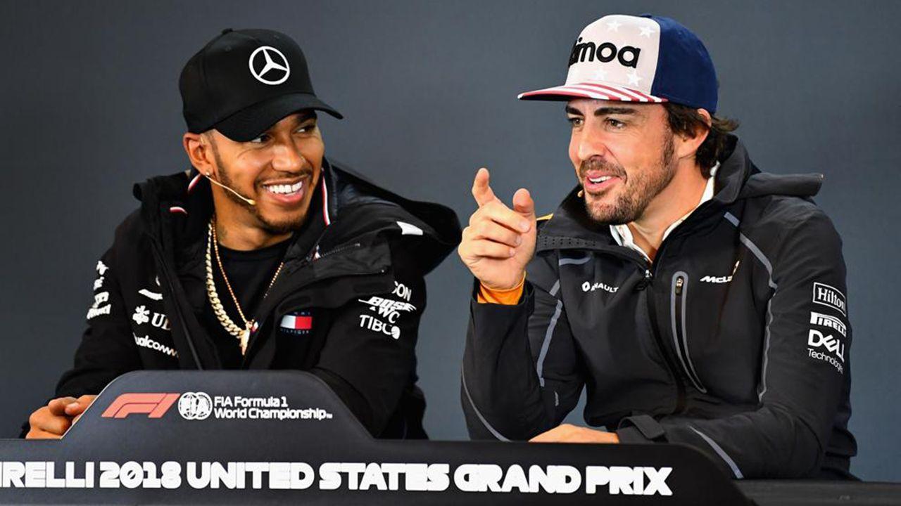 El Gran Premio de Formula uno de México en imágenes.Hamilton y Alonso, en rueda de prensa, en Austin (EE.UU.)