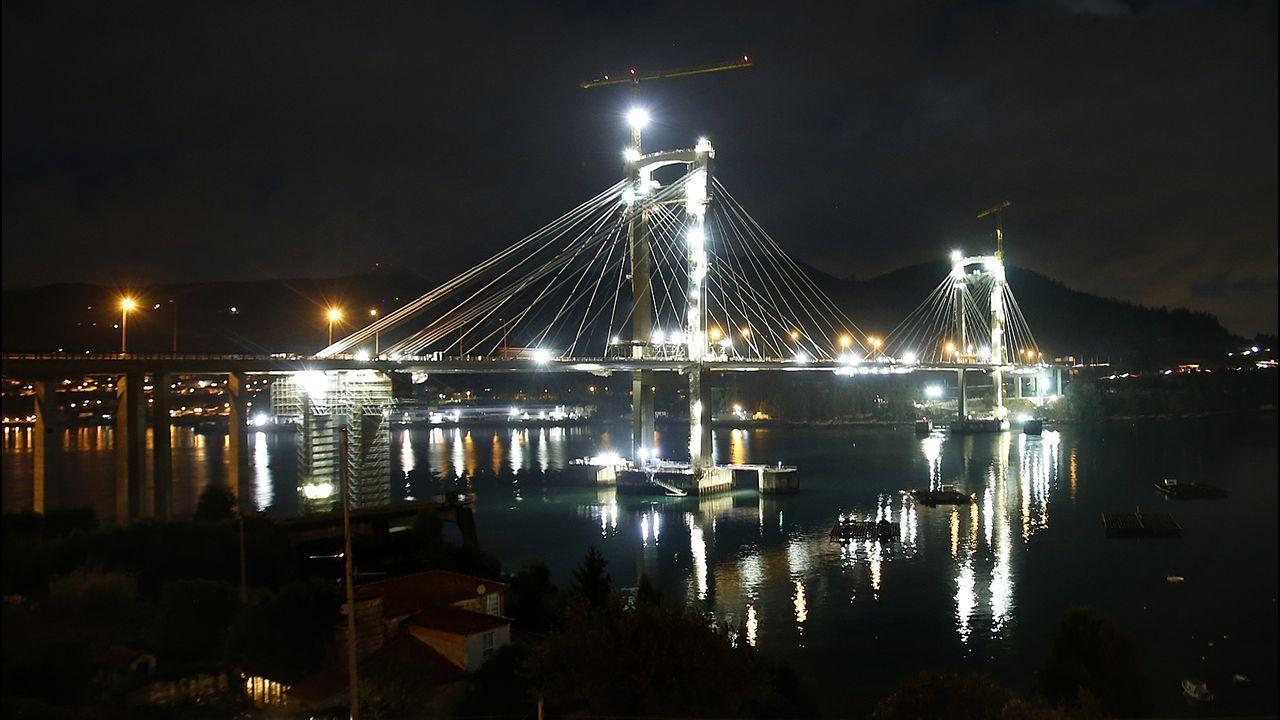 Ehtel Vázquez presume de iluminación para Rande.Desde el día 1 la autopista Vigo-Baiona costará un 50 % menos