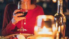 Cena romántica en un restaurante