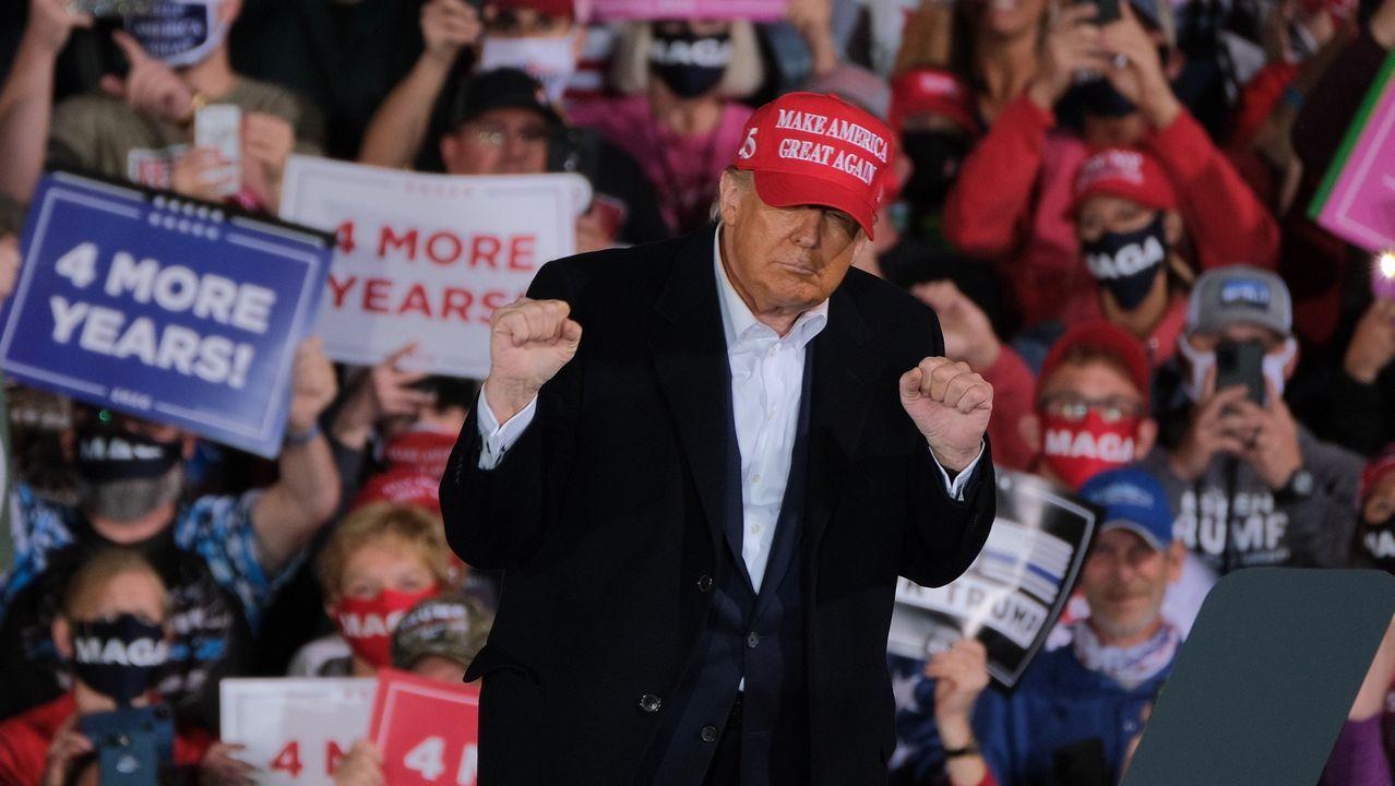 Trump, durante un mitin el miércoles en Des Moines, capital de Iowa