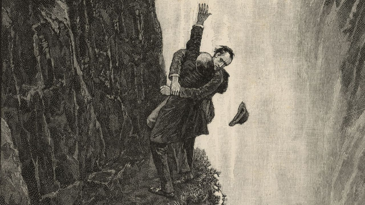 Una de las ilustraciones de la exposición, «La muerte de Lucy»