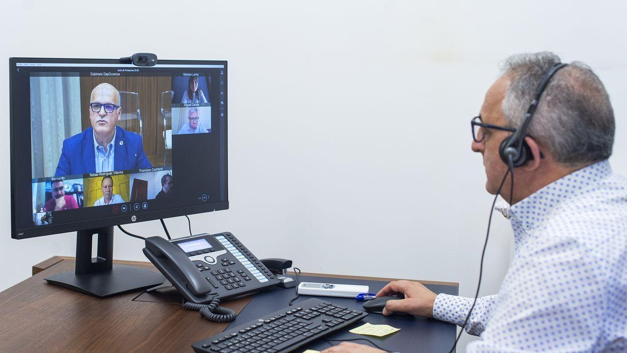 La junta de portavoces de la Diputación se celebró por videoconferencia