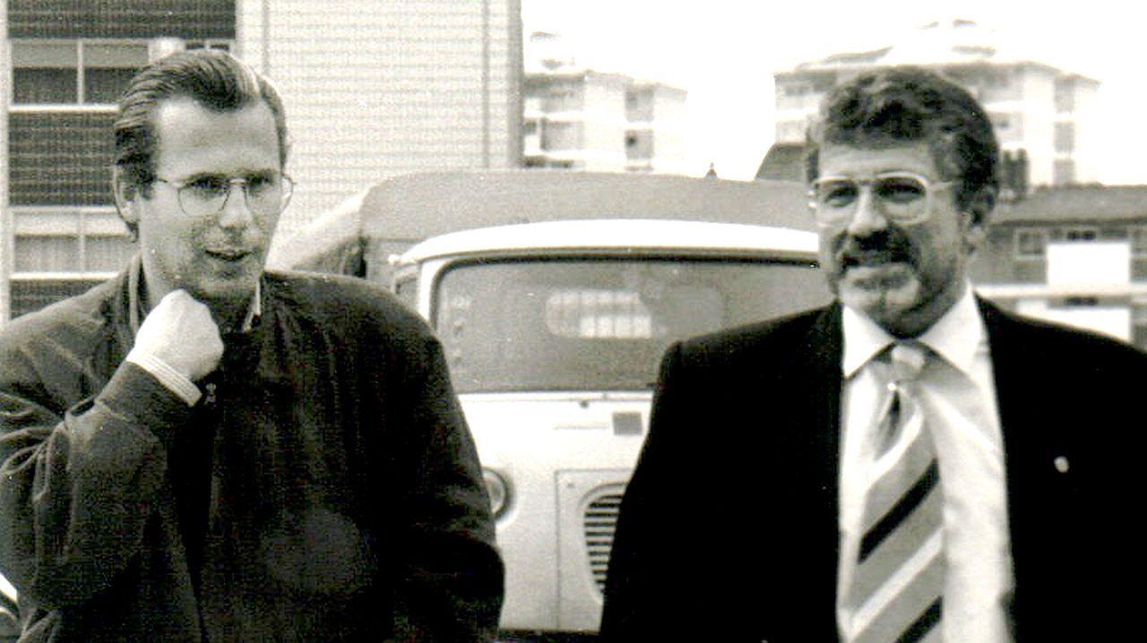 Jorge Parada, con Baltasar Garzón, a principios de los 90