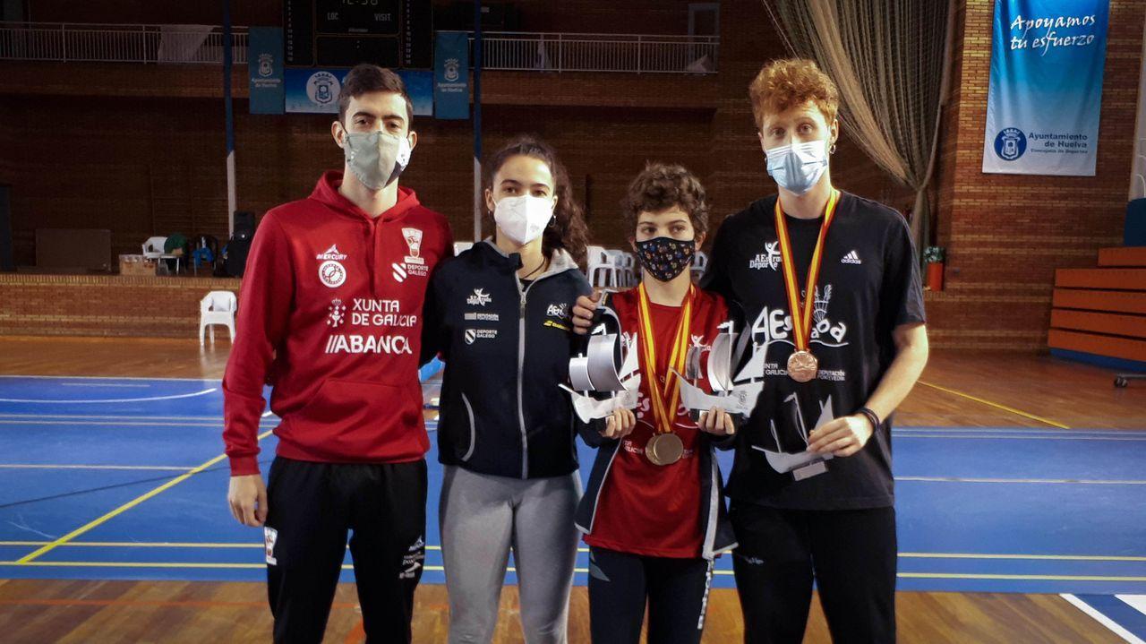 De los 14 jugadores del club ourensano, 6 consiguieron medallas
