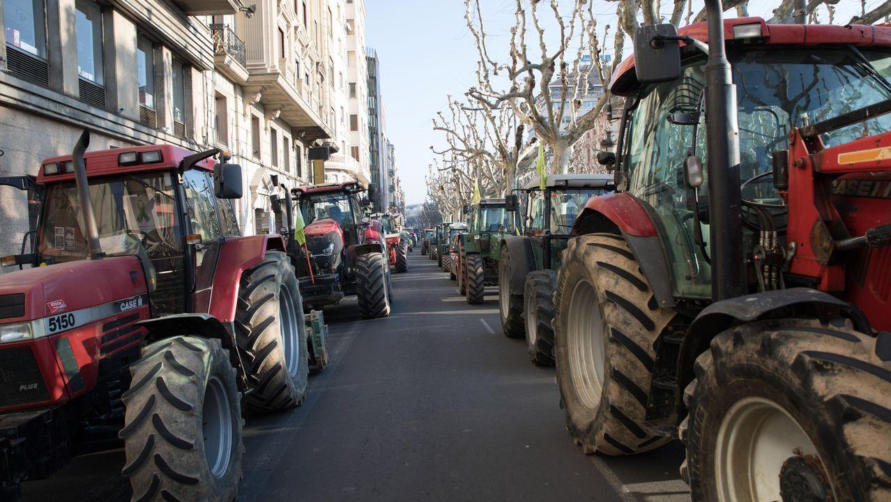 Tractorada en Lérida