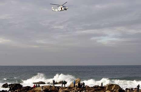 El helicóptero «Pesca 1» tardó 40 minutos en llegar al lugar del accidente.