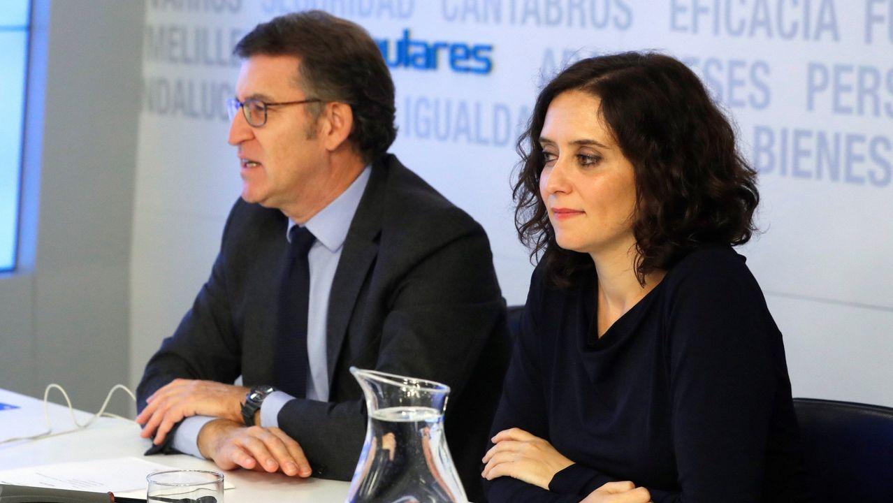Ayuso junto a Núñez Feijoo en un comité ejecutivo nacional del PP