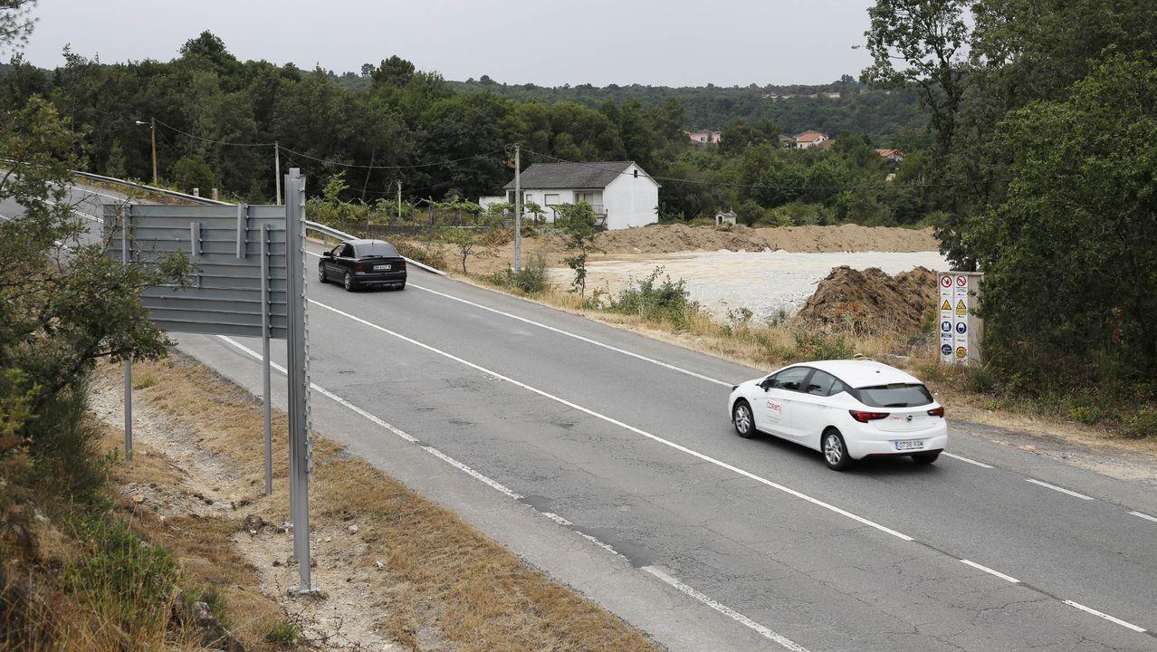 Imagen de archivo de las obras en el enlace de la A-52 con la carretera N-525