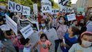 Protesta en Monelos por la falta de un profesor en el CEIP Ramón de la Sagra, en A Coruña