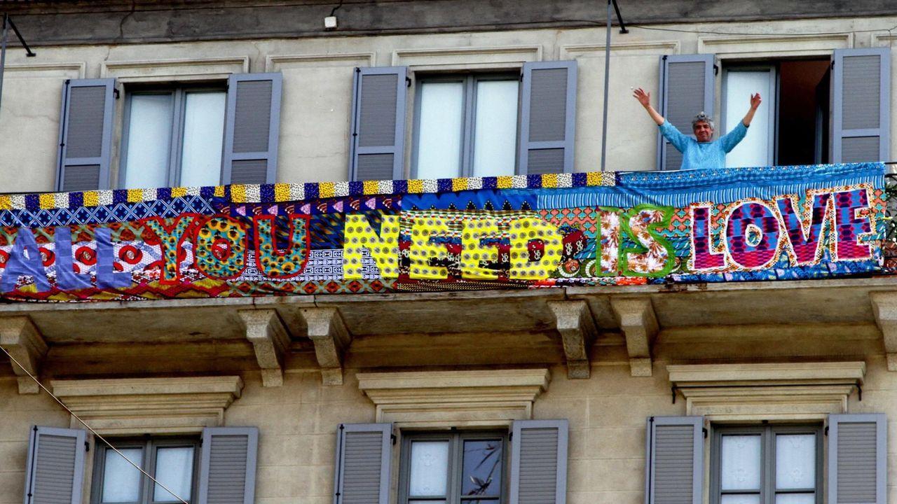 Imagen de un balcon en Milán